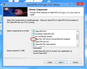 Configure OpenVPN Step 1