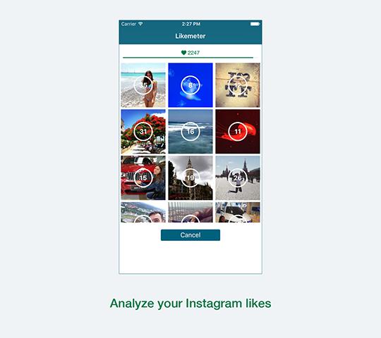 Likemeter - analyze Instagram likes screen