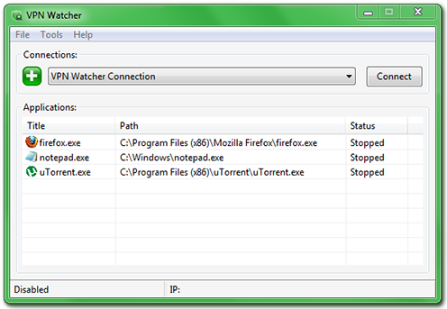 VPN Watcher Desktop Main