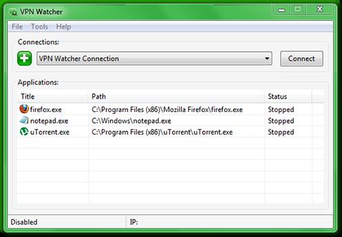 VPN Watcher Desktop Main