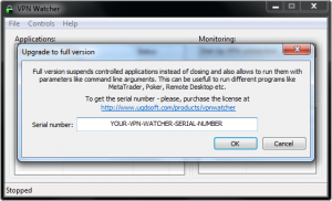 VPN Watcher activation step 2