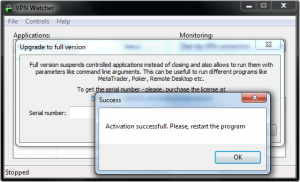 VPN Watcher activation step 3