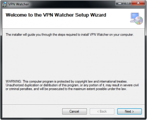 VPN Watcher installation step 1