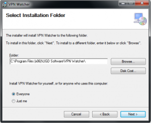VPN Watcher installation step 3