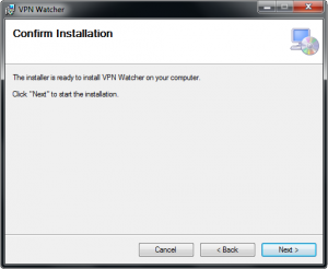 VPN Watcher installation step 4