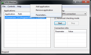 Suspend Controlled App With VPN Watcher Step 1