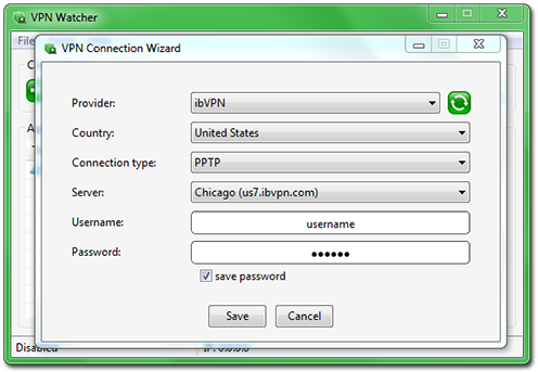 VPN Watcher Desktop Client Wizard